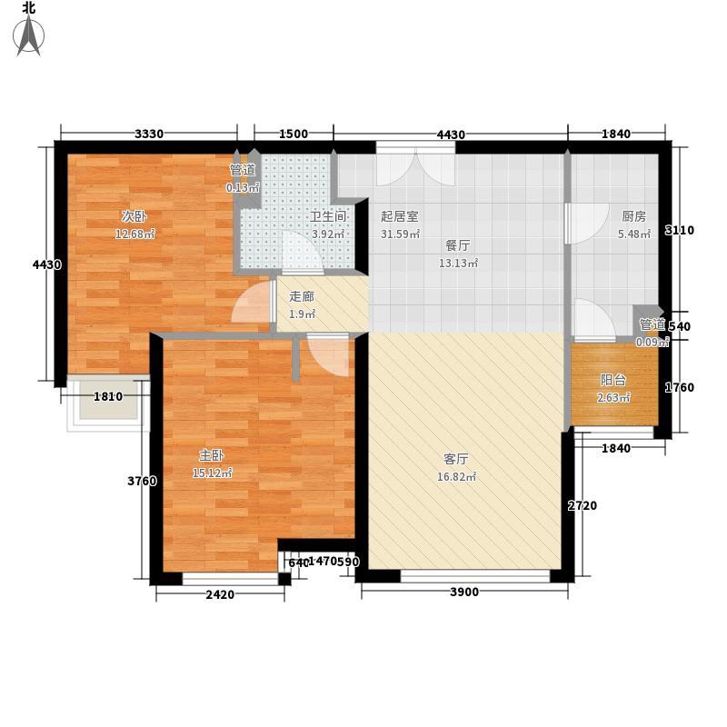 富力津门湖99.78㎡涵屿清溪6、7号楼02户型2室2厅