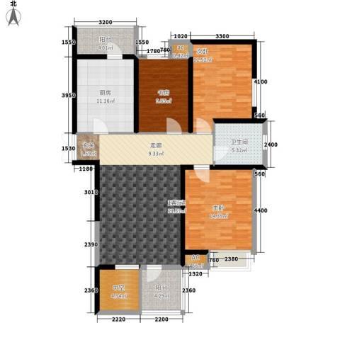 弘泽印象3室0厅1卫1厨135.00㎡户型图