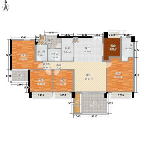 时代花生5室1厅3卫1厨154.00㎡户型图