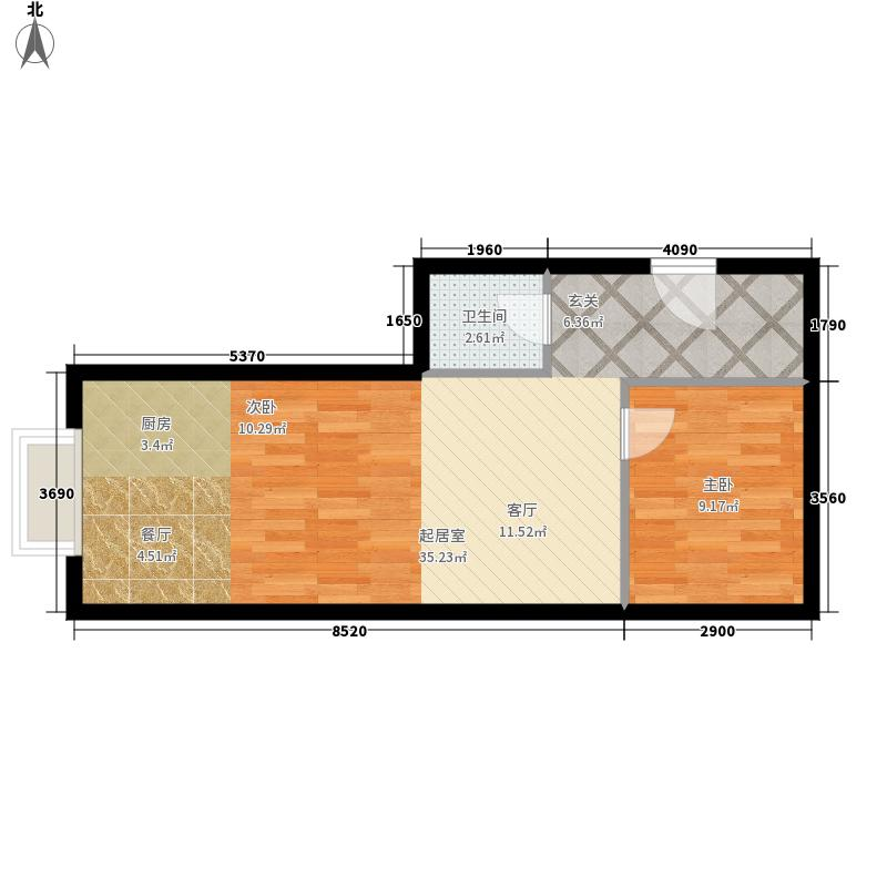 金水大厦52.11㎡E面积5211m户型