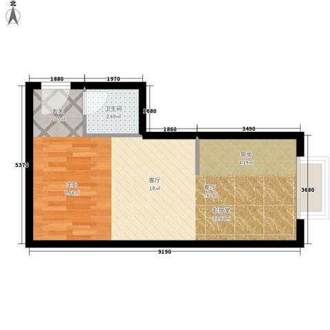 金水大厦1卫0厨40.00㎡户型图