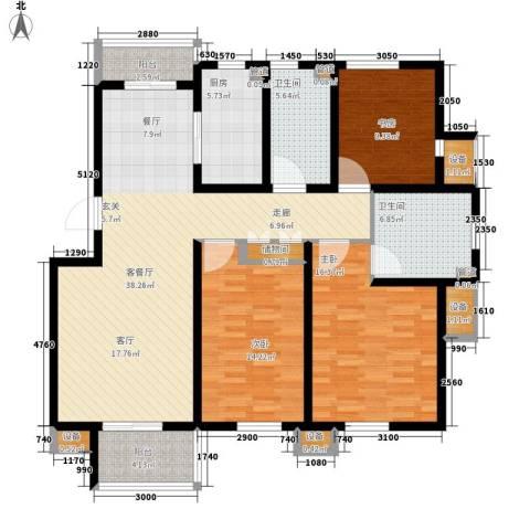 保亿・风景大院3室1厅2卫1厨153.00㎡户型图