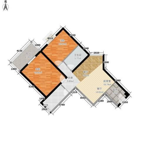 金水大厦2室0厅1卫1厨95.00㎡户型图