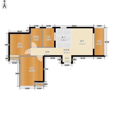 高山流水幸福快车2室0厅1卫1厨85.00㎡户型图