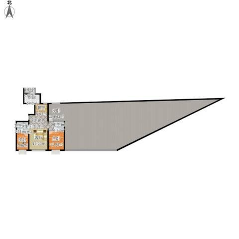 格兰云天3室1厅2卫1厨376.00㎡户型图