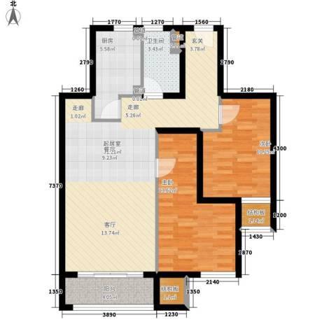 中信泰富朱家角新城2室0厅1卫1厨83.00㎡户型图