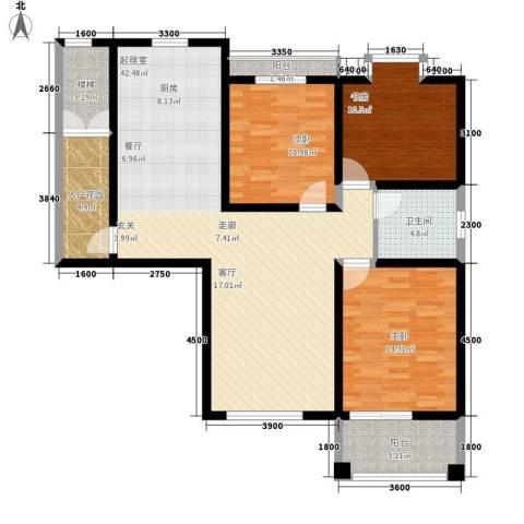 新悦润居3室0厅1卫0厨115.00㎡户型图