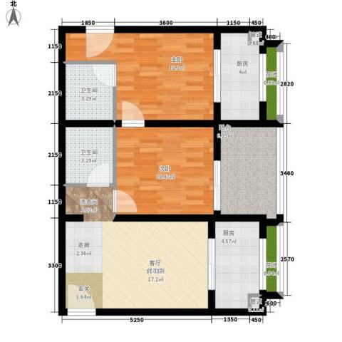 西铁小区2室0厅2卫2厨90.00㎡户型图