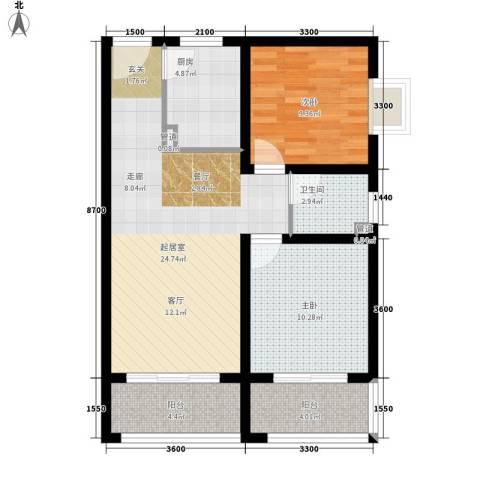 西铁小区2室0厅1卫1厨86.00㎡户型图