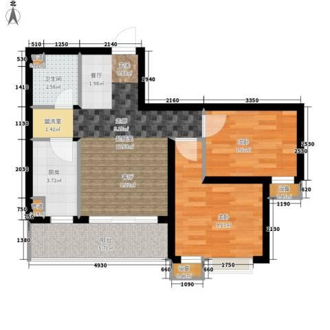 风华四季园2室0厅1卫1厨64.00㎡户型图