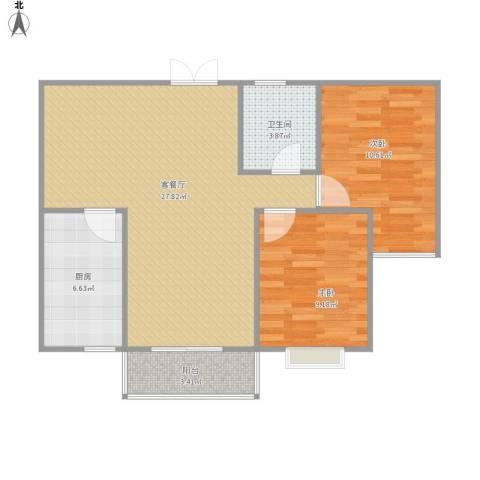 锦绣华庭.jpg2室1厅1卫1厨83.00㎡户型图