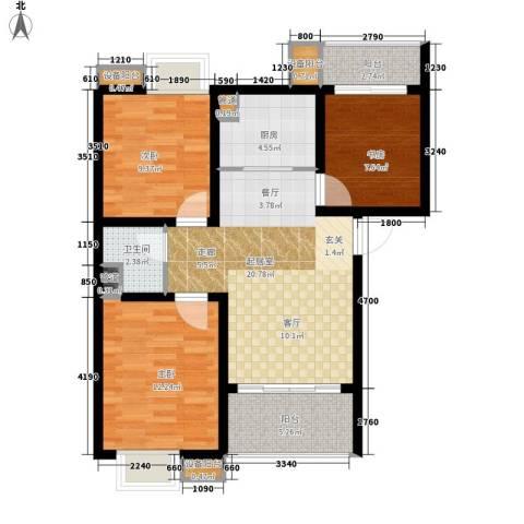 风华四季园3室0厅1卫1厨89.00㎡户型图