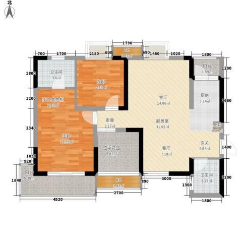 城郊涉外桃源2室0厅2卫0厨111.00㎡户型图