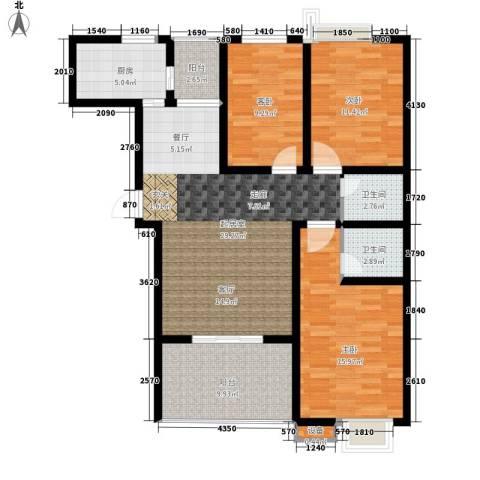 风华四季园3室0厅2卫1厨124.00㎡户型图
