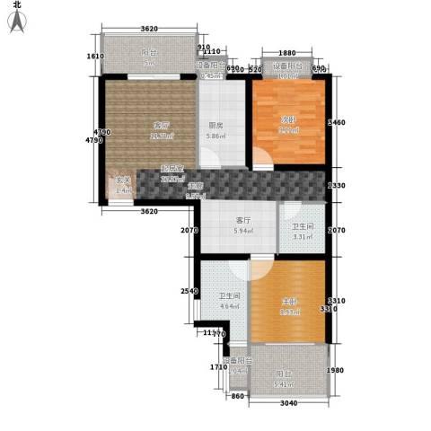 风华四季园2室0厅2卫1厨81.00㎡户型图