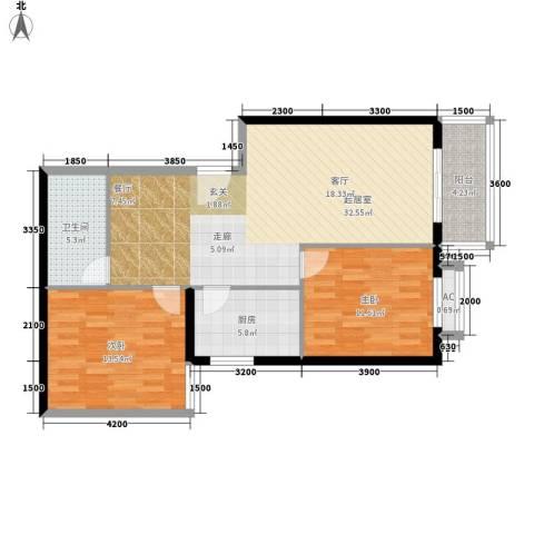 西铁小区2室0厅1卫1厨103.00㎡户型图