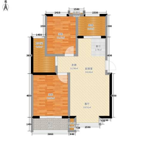 都市怡景2室0厅1卫1厨90.00㎡户型图