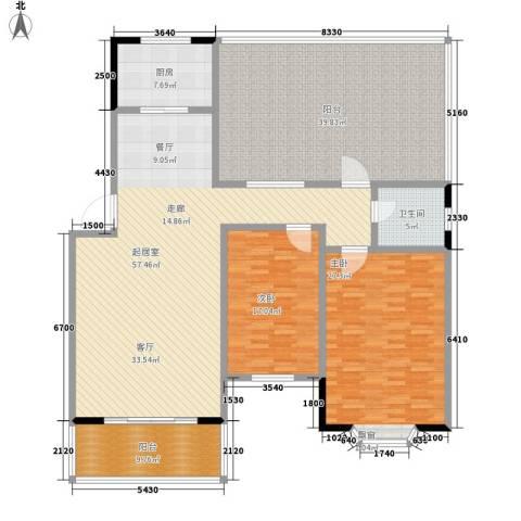 都市怡景2室0厅1卫1厨164.07㎡户型图