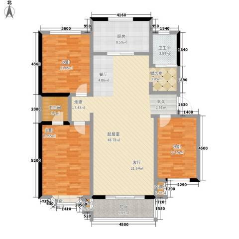 都市怡景3室0厅2卫1厨142.00㎡户型图