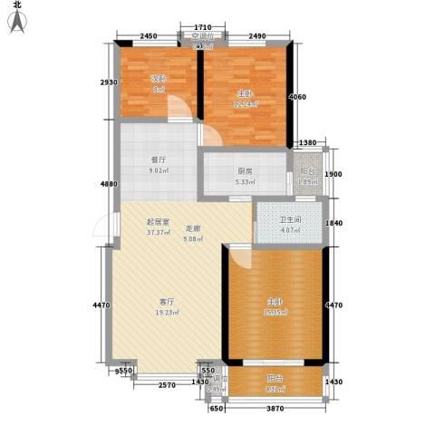 都市怡景3室0厅1卫1厨103.00㎡户型图