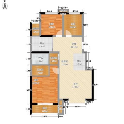 都市怡景3室0厅2卫1厨114.00㎡户型图