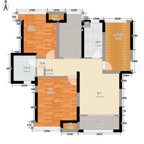 上海滩大宁城2室0厅1卫1厨95.00㎡户型图