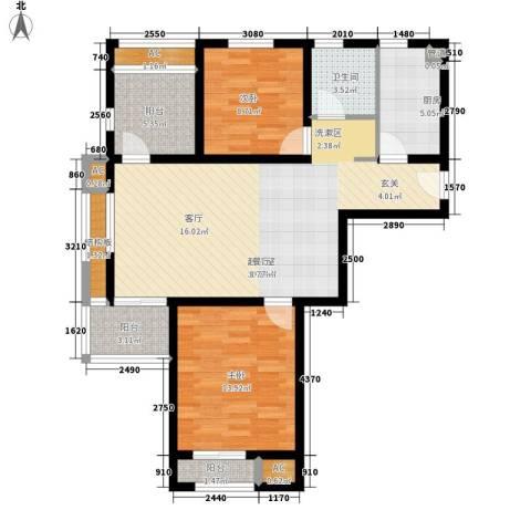 金地未未来2室0厅1卫1厨89.00㎡户型图