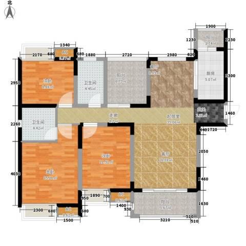 中海熙岸3室0厅2卫1厨117.42㎡户型图