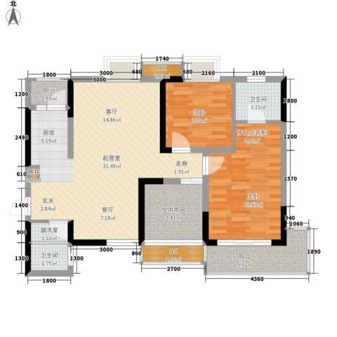 城郊涉外桃源2室0厅2卫0厨108.00㎡户型图