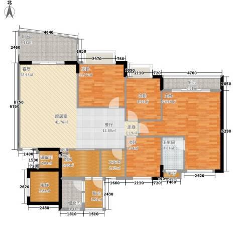 沁馥佳苑4室0厅2卫1厨152.00㎡户型图