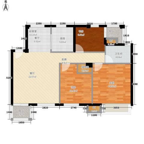 金地未未来3室0厅1卫1厨89.00㎡户型图
