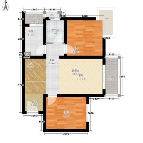杰信花园2室0厅1卫1厨81.00㎡户型图