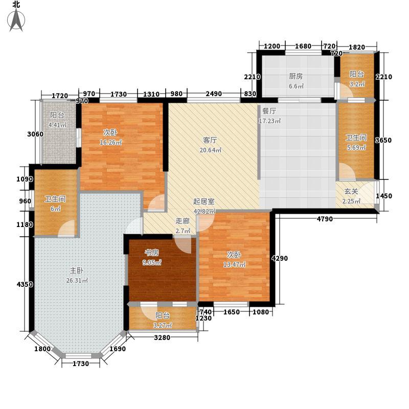 新华西美林公馆151.50㎡D1面积15150m户型