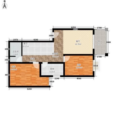 聚福园2室0厅1卫1厨125.00㎡户型图