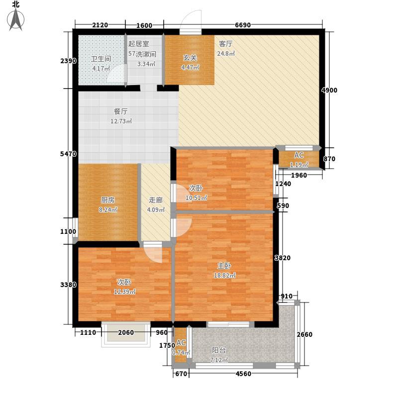 富源公馆122.53㎡4-B3-2-2122面积12253m户型