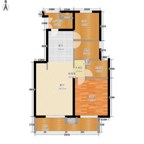 中信泰富朱家角新城2室0厅1卫1厨95.00㎡户型图