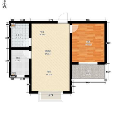 天洲沁园1室0厅1卫1厨63.00㎡户型图