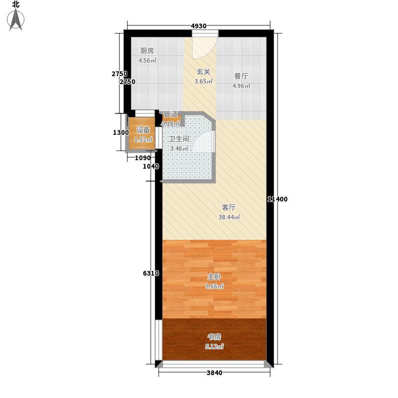 西城风尚公寓48.16㎡面积4816m户型