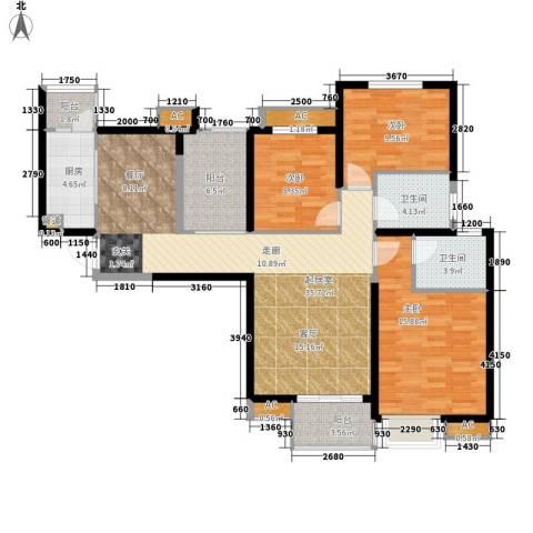 中海熙岸3室0厅2卫1厨111.59㎡户型图