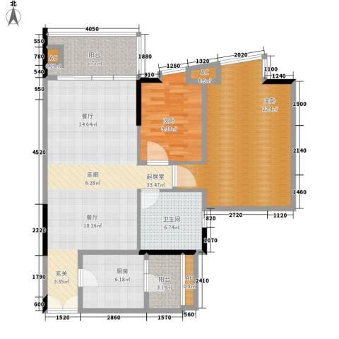 君汇世家2室0厅1卫1厨100.00㎡户型图