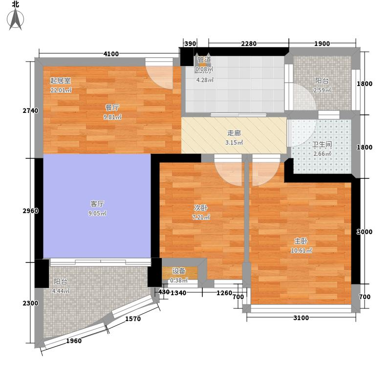 碧桂园金沙滩73.43㎡洋房二、三号楼B户型