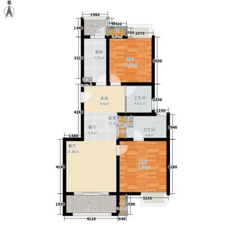 中信泰富朱家角新城2室0厅2卫1厨91.00㎡户型图