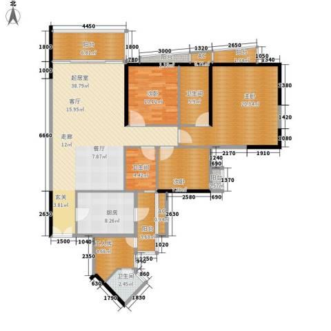 君汇世家3室0厅3卫1厨133.00㎡户型图