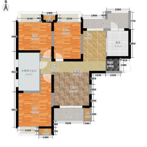 中海熙岸3室0厅0卫1厨102.36㎡户型图