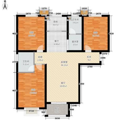 天洲沁园3室0厅2卫1厨124.00㎡户型图
