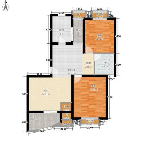 毕加索小镇2室0厅1卫1厨94.00㎡户型图
