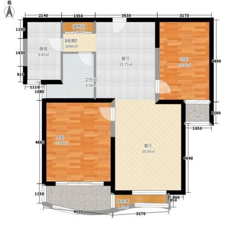 虹叶茗园2室0厅1卫1厨129.00㎡户型图
