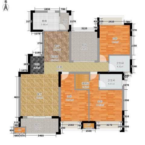 中海熙岸3室0厅2卫1厨144.00㎡户型图