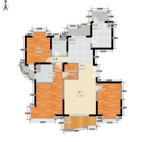 虹叶茗园3室0厅2卫1厨194.00㎡户型图