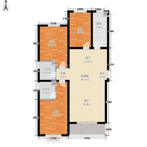 天洲沁园3室0厅2卫1厨130.00㎡户型图